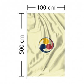 Vertikali vėliava 100x500 cm