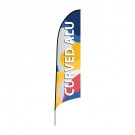 Reklaminė vėliava Curved ALU