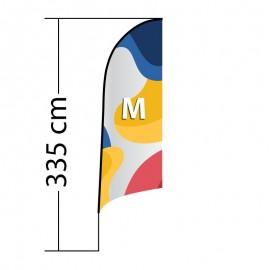 Curved ALU M reklaminė vėliava