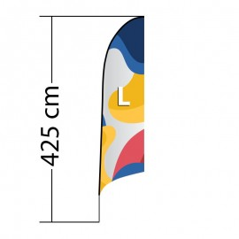 Curved ALU L reklaminė vėliava