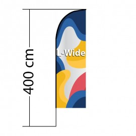Reklaminė vėliava Straight L-Wide