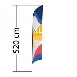 Reklaminė vėliava Shark XL