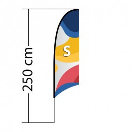 Reklaminė vėliava Concave S