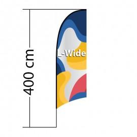 Reklaminė vėliava Concave L-Wide