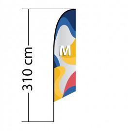 Reklaminė vėliava Angled M