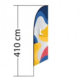 Reklaminė vėliava Angled L