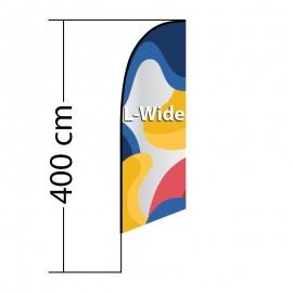 Reklaminė vėliava Angled L-Wide