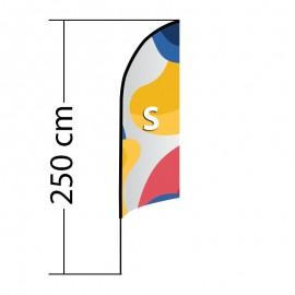 Curved ALU S reklaminė vėliava