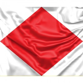 "Signalinė jūrinė vėliava Foxtrot ""F"""