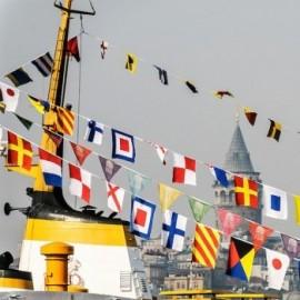 Signalinių jūrinių vėliavų komplektas (40 vėliavų)