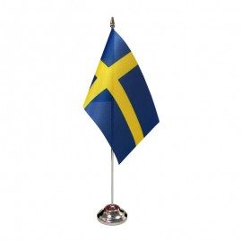 Švedijos stalinė vėliavėlė, 12 x 20 cm