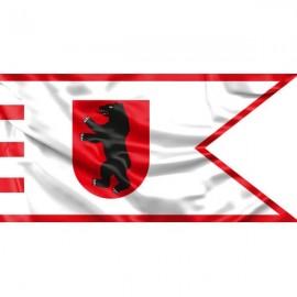 """Žemaitijos vėliava """"Su meška skyde ir raudonu apvadu"""""""