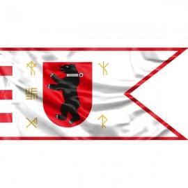 """Žemaitijos vėliava """"Su meška skyde ir runomis"""""""