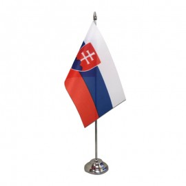 Slovakijos stalinė vėliavėlė, 12 x 20 cm