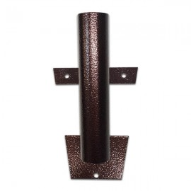Metalinis laikiklis vėliavos kotui, tamsiai rudas, 1-3 vietų
