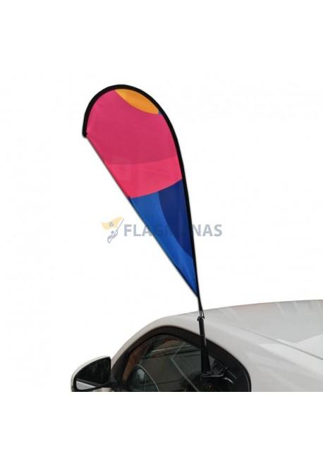 Automobilinė reklaminė vėliava Drop, su stoveliu