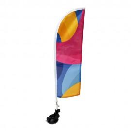 Prisiurbiama reklaminė vėliava Straight, su stoveliu 70