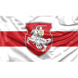 Senoji Baltarusijos vėliava, su herbu