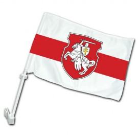 Senoji Baltarusijos automobilinė vėliavėlė su herbu