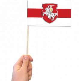 Senoji Baltarusijos popierinė vėliavėlė, su herbu