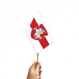 Senoji Baltarusijos medžiaginė vėliavėlė, su herbu