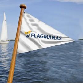 Trikampė laivo vėliava pagal užsakymą