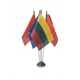 Keturvietis metalinis vėliavėlės stovelis SILVER
