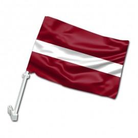 Latvijos automobilinė vėliavėlė su koteliu