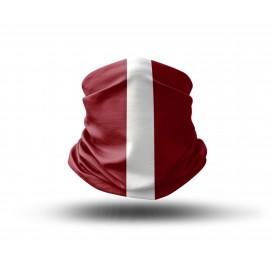 """Veido apdangalas su spauda """"Latvijos vėliava"""""""