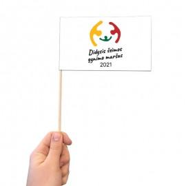 Didžiojo Šeimos Gynimo Maršo 2021 popierinė vėliavėlė