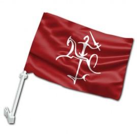 Senojo Vyčio V automobilinė vėliavėlė su koteliu