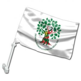 Didžiojo Šeimos Gynimo Maršo 2021 automobilinė vėliavėlė su koteliu II
