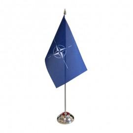 NATO stalinė vėliavėlė, 12 x 20 cm