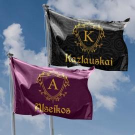 Personalizuota vėliava su šeimos simbolika