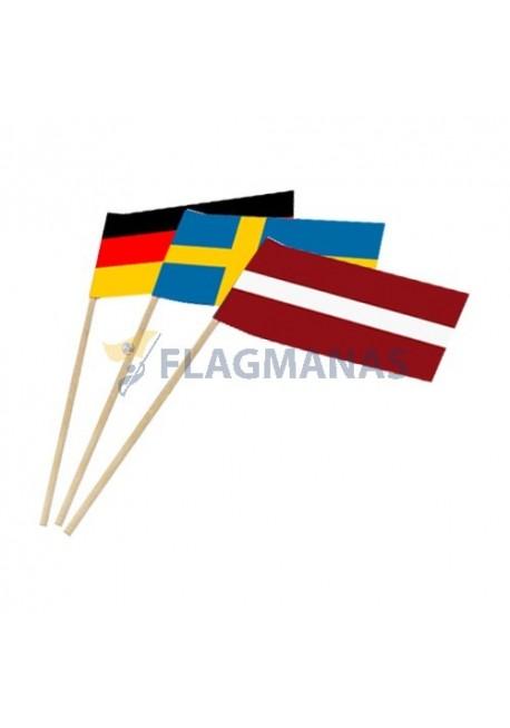 Šalių popierinės vėliavėlės
