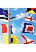 Signalinių jūrinių vėliavų komplektai